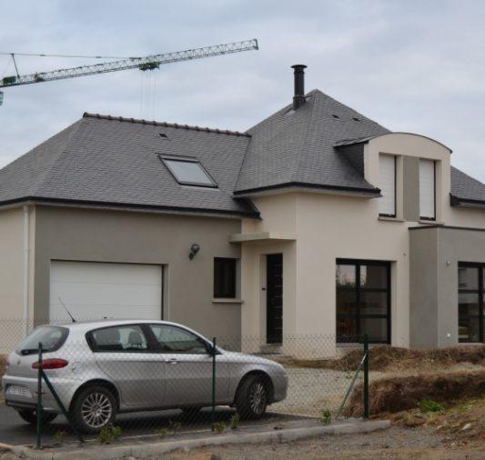 Construction d'une maison neuve 4 pans