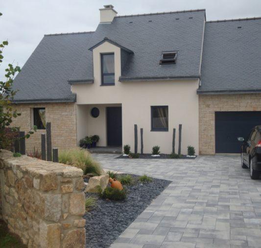 Maison façade pierre