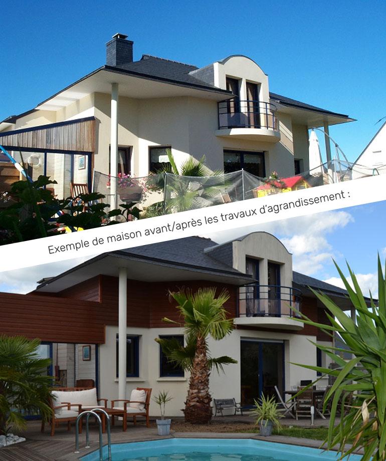 exemple maison avant et après agrandissement