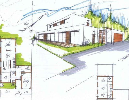 plans maison moderne