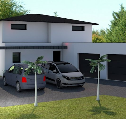 maison toiture 4 pans morbihan