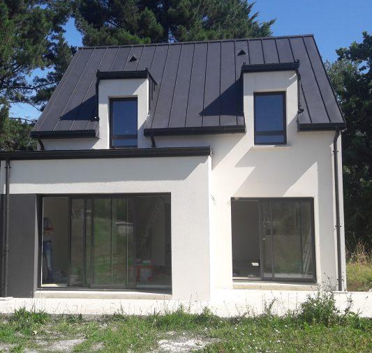 maison toiture zinc morbihan