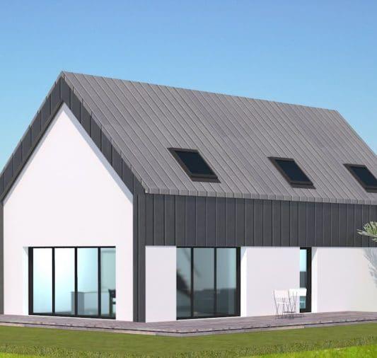 Maison toiture zinc